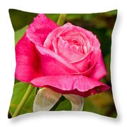 Rose Flower Throw Pillow