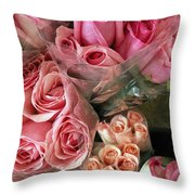 Roses For Sale Throw Pillow