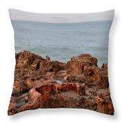 Ross Witham Beach Hutchinson Island Martin County Florida Throw Pillow