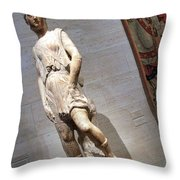 Rossellino's The David Of The Casa Martelli Throw Pillow