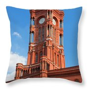 Rotes Rathaus The Town Hall Of Berlin Germany Throw Pillow