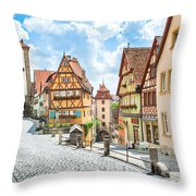 Rothenburg Ob Der Tauber Throw Pillow
