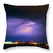 Round 2 More Late Night Servere Nebraska Storms Throw Pillow