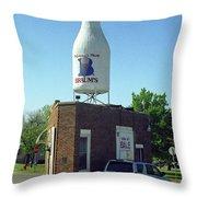 Route 66 - Giant Milk Bottle Throw Pillow