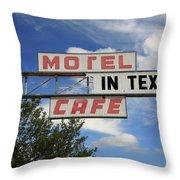 Route 66 - Glenrio Texas Throw Pillow