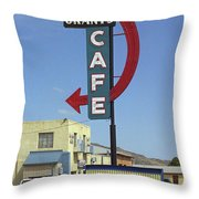 Route 66 - Grants Cafe Throw Pillow