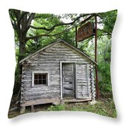 Route 66 - John's Modern Cabins Throw Pillow