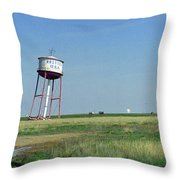 Route 66 - Leaning Water Tower Throw Pillow