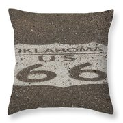Route 66 - Oklahoma Shield Throw Pillow