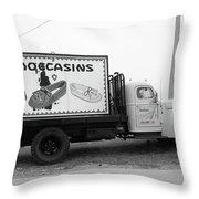 Route 66 - Oklahoma Trading Post Truck Throw Pillow