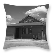 Route 66 - Old Log Cabin Throw Pillow