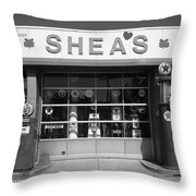 Route 66 - Shea's Filling Station Throw Pillow