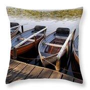 Rowboats Throw Pillow