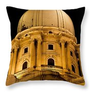 Royal Palace Dome In Budapest Throw Pillow