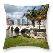 Royal Park Bridge Throw Pillow