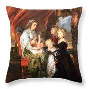 Rubens' Deborah Kip -- Wife Of Sir Balthasar Gerbier -- And Her Children Throw Pillow