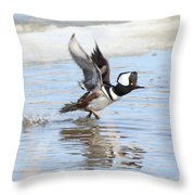 Running On The Water Throw Pillow
