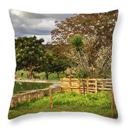 Rural Scene Throw Pillow by Carlos Caetano