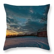 Rural Sunset II Throw Pillow