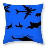 Russian Aviation Throw Pillow