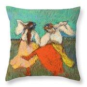 Russian Dancers Throw Pillow