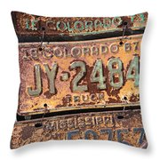Rusted Plates Throw Pillow