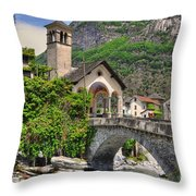Rustic Village Throw Pillow