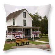 Ryckman House In Melbourne Beach Florida Throw Pillow by Allan  Hughes