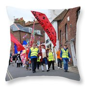 Rye Olympic Torch Relay Parade Throw Pillow