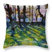Sacred Garden In Gotland Throw Pillow