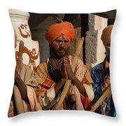 Sadus Holy Men Of India Throw Pillow