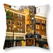 Saenger Theatre New Orleans Paint 2 Throw Pillow
