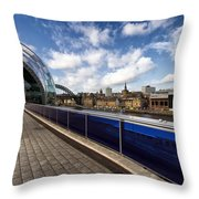 Sage Gateshead And Newcastle Skyline Throw Pillow