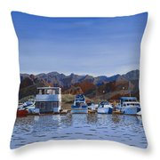 Saguaro Lake Left Throw Pillow