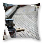 Sail Boat Rope Throw Pillow