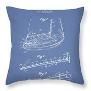 Sailboat Patent From 1996 - Vintage Throw Pillow