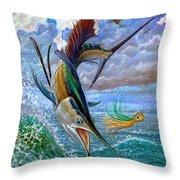Sailfish And Lure Throw Pillow