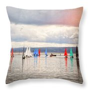 Sailing On Marine Lake A Reflection Throw Pillow