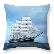 Sailing Ship Throw Pillow by Anonymous