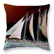 Sailing In Hope Throw Pillow