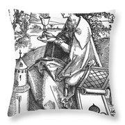Saint Barbara (c200 Throw Pillow