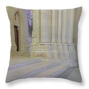 Saint John The Divine Cathedral Columns Throw Pillow