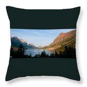 Saint Mary Lake And Wild Goose Island Throw Pillow