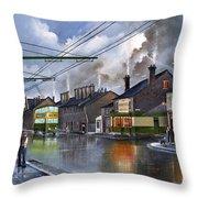Salop Street Dudley C 1950 Throw Pillow