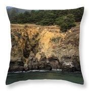 Salt Point Cliffs Throw Pillow
