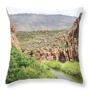 Salt River Above Roosevelt Lake Throw Pillow