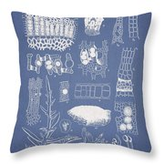Salwater Algae Throw Pillow