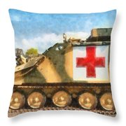 Samaritan Ambulance Throw Pillow