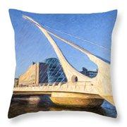 Samuel Beckett Bridge Dublin Throw Pillow