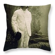 Samuel Langhorne Clemens (1835-1910) Throw Pillow